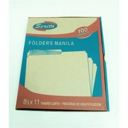 "FOLDERS MANILA 8.5"" x 11""..."